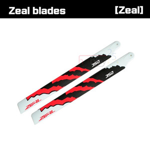 ZEAL Energy Carbon Fiber Main Blades 350mm (Neon Orange) [ZHM-NRG350C]