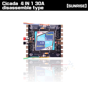 [SUNRISE Model] CICADA BLHELI_S 4 IN 1 30A disassemble type