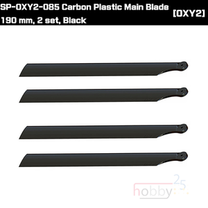 SP-OXY2-085 Carbon Plastic Main Blade 190 mm, 2 set, Black